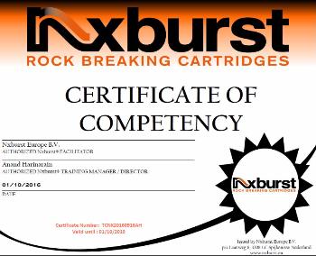 Certificate NX Burst operator